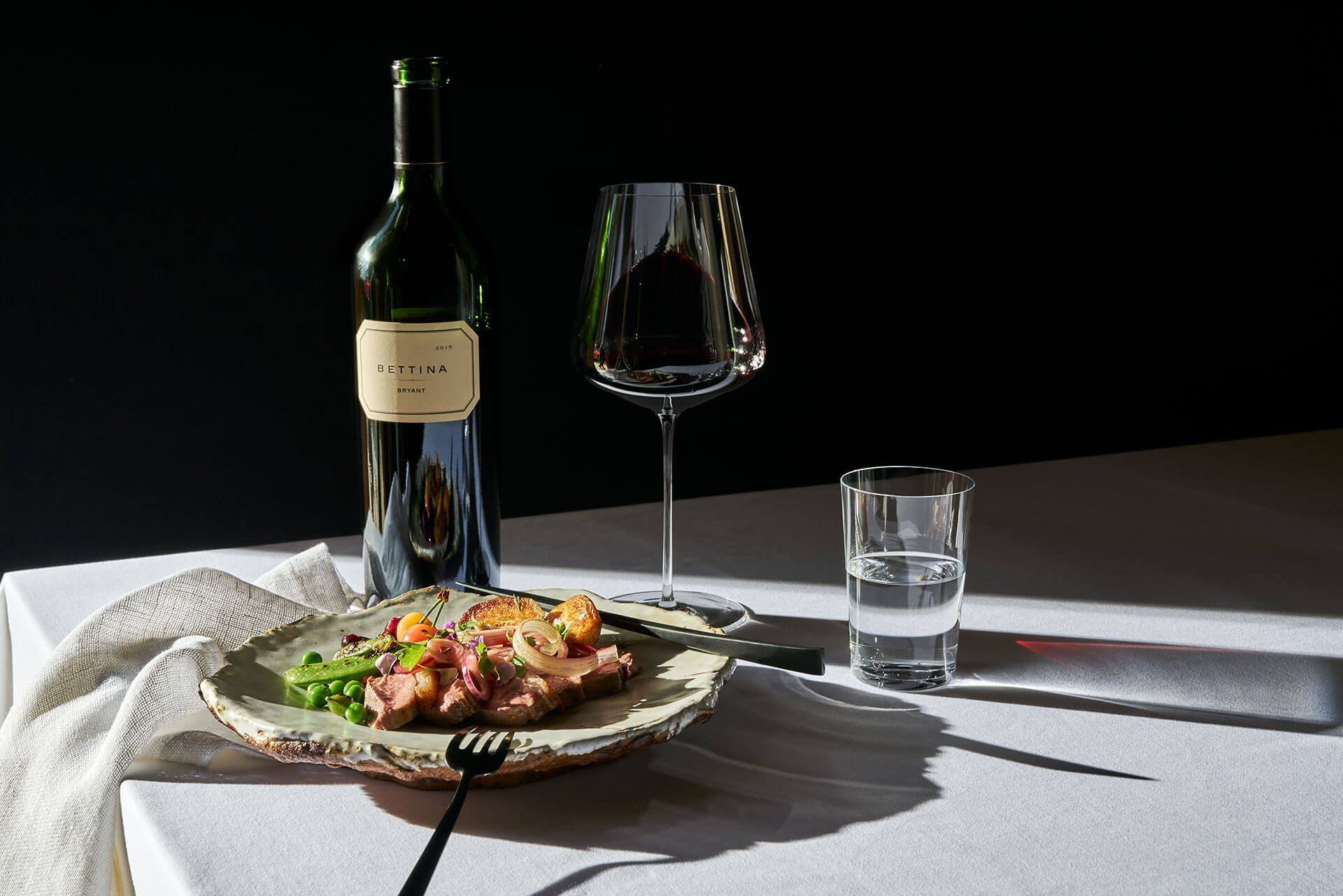 Bryant Family Vineyard Cabernet Sauvignon and duck